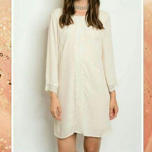 🔜 Cream Tunic/Pencil Dress Boho Vintage Chic